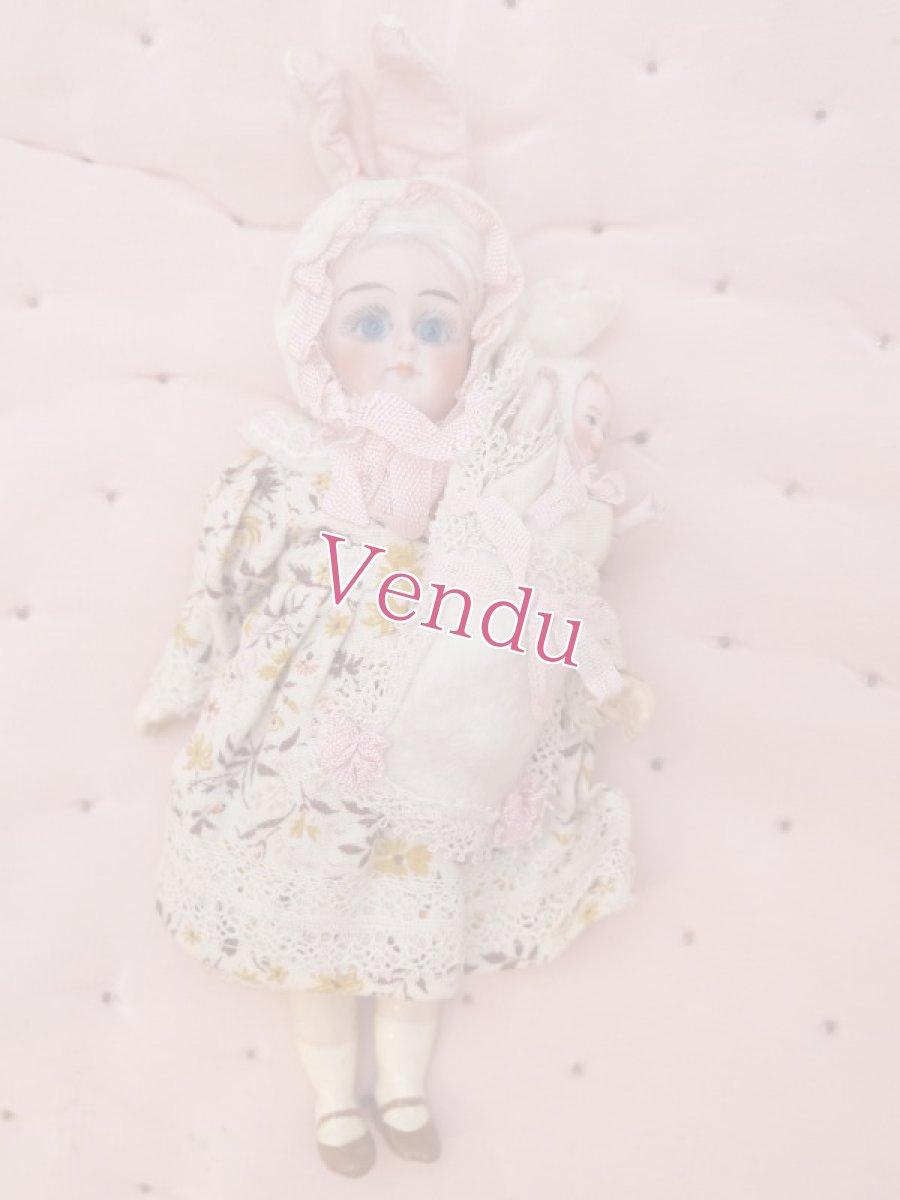 画像1: K&Rバニードール小花柄ドレス (1)