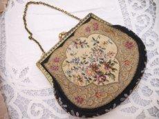 画像3: 花模様タペストリーバッグ (3)
