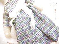 画像6: チェック柄ドレス ウサギぬいぐるみ (6)