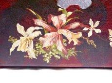 画像3: 蝶と蘭の柄パピエマシェレターラック (3)
