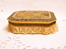画像2: メタルレースロココリボン装飾カルトナージュボックス (2)