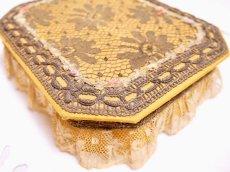 画像4: メタルレースロココリボン装飾カルトナージュボックス (4)