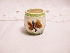 画像2: 花と蝶モチーフ バルボティーヌ マスタードポット (2)