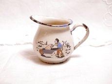 画像1: ビンテージ ホーロー製の子供用ミルククリーマー (1)