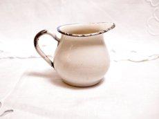 画像2: ビンテージ ホーロー製の子供用ミルククリーマー (2)