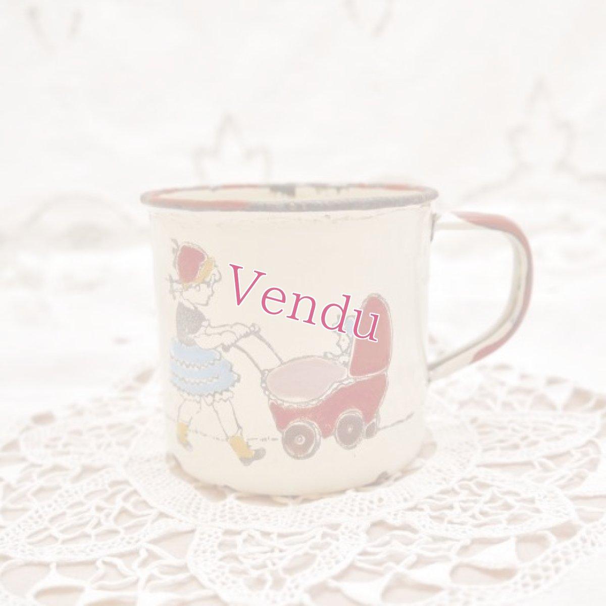 画像1: 通常価格¥8000→¥4000*ヴィンテージ ホーロー製の子供用ミルクカップ (1)