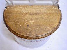 画像8: ホーロー 薔薇とリボン柄 小麦粉缶 (8)