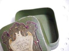 画像7: 古い紙製グリーンのパウダーケース violette (7)