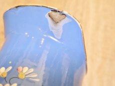 画像9: ブルー地花柄ホーロージャグ (9)