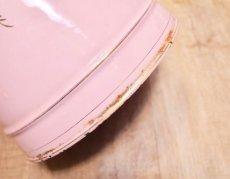 画像7: エトワール社 ピンク色の鳥とデイジー柄大きめジャグ (7)