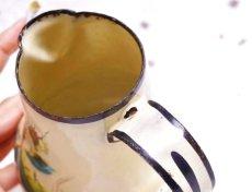 画像9: 薔薇柄ベージュイエロー系小さめジャグ (9)