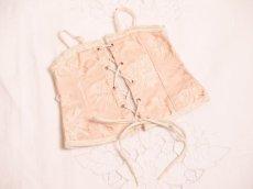 画像1: ドール用ピンクのコルセット  (1)
