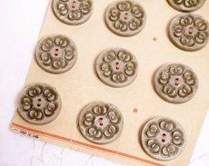 画像2: 通常価格¥2400→¥1200プラスチック 台紙付きボタン12個セット (2)