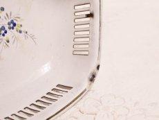 画像8: 白地 薔薇とパンジー柄ホーロー ブレッドボウル (8)