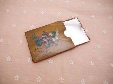 画像2: スミレ柄モシュリンヌ 携帯用の鏡 (2)