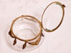 画像3: ガーランドオルモル付きガラスケース ジュエリーボックス (3)