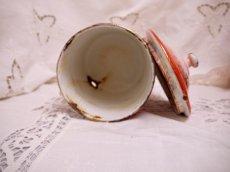 画像6: ULLRICH社レア赤ぼかし小花柄キャニスター4個セット (6)