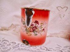 画像5: レア赤ぼかし小花柄キャニスター4個セット (5)