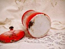 画像19: レア赤ぼかし小花柄キャニスター4個セット (19)