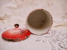 画像18: レア赤ぼかし小花柄キャニスター4個セット (18)
