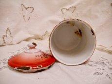 画像13: レア赤ぼかし小花柄キャニスター4個セット (13)