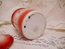 画像11: レア赤ぼかし小花柄キャニスター4個セット (11)