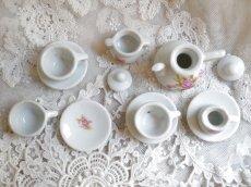 画像3: ドール用 薔薇柄 陶器のティーセット (3)