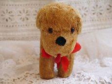 画像5: 赤いリボンの犬のぬいぐるみ (5)