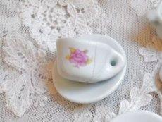 画像4: ドール用 薔薇柄 陶器のティーセット (4)