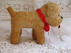 画像3: 赤いリボンの犬のぬいぐるみ (3)