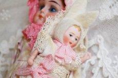 画像6: K&Rバニードール ピンク系チェック柄ドレス (6)