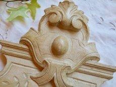 画像3: クリーム色のフロントン木製ドア飾りデコレーション (3)
