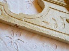画像4: クリーム色のフロントン木製ドア飾りデコレーション (4)