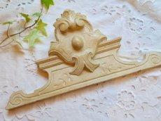 画像1: クリーム色のフロントン木製ドア飾りデコレーション (1)