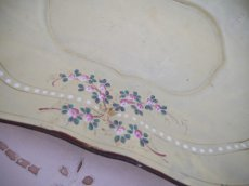 画像5: クリームベージュ小花柄ホーローパントレイ (5)