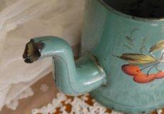 画像8: ブルーグリーン ベリーと小鳥のポット (8)