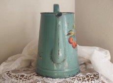 画像5: ブルーグリーン ベリーと小鳥のポット (5)