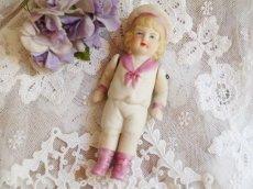 画像1: ピンクのセーラー ビスクドール (1)