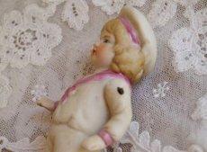 画像5: ピンクのセーラー ビスクドール (5)