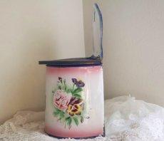画像2: ジャピー社バラとパンジー柄ピンクぼかしセル缶 (2)