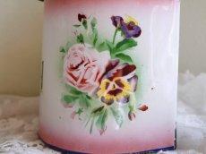 画像5: ジャピー社バラとパンジー柄ピンクぼかしセル缶 (5)