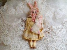 画像2: K&Rバニードール イエロー系小花柄ドレス (2)