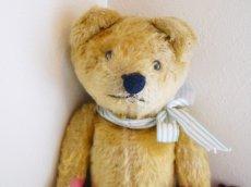 画像5: ストライプリボンのクマのぬいぐるみ (5)