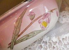 画像7: ホーローお花柄ピンクのソープディッシュ (7)