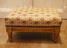 画像2: ルイ16世様式 ゴブラン織り フットスツール (2)