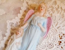 画像4: 天使と子供の陶器の聖水盤 (4)