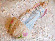 画像3: 天使と子供の陶器の聖水盤 (3)