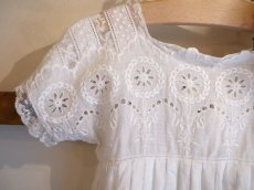 画像3: 綿ローン ホワイト刺繍 子供ドレス (3)