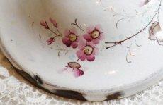 画像7: 白地にピンクのお花柄 ホーロー バターディッシュ (7)