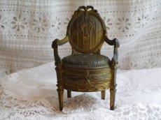 画像2: ブロンズ製椅子型アクセサリーケース (2)